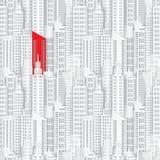 Κτήριο Achitectural κατά την πανοραμική άποψη ελεύθερη απεικόνιση δικαιώματος
