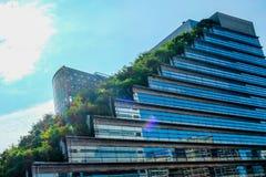 Κτήριο Acros στο Φουκουόκα Ιαπωνία Στοκ φωτογραφία με δικαίωμα ελεύθερης χρήσης