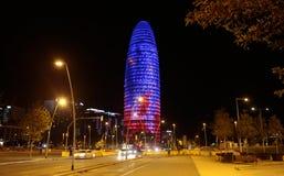 Κτήριο Agbar στη Βαρκελώνη ευρέως στοκ εικόνες με δικαίωμα ελεύθερης χρήσης