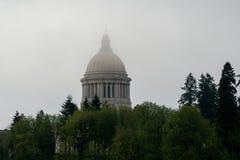 Κτήριο Capitol πολιτεία της Washington στην ομίχλη στοκ εικόνες