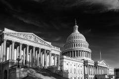 Κτήριο Capitol στο Washington DC Ηνωμένες Πολιτείες, γραπτές Στοκ Εικόνες