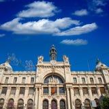 Κτήριο Correos στη Βαλένθια σε Plaza Ayuntamiento κεντρικός Στοκ Φωτογραφίες