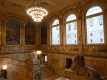 Κτήριο McKim, δημόσια βιβλιοθήκη της Βοστώνης, Βοστώνη, Μασαχουσέτη, ΗΠΑ Στοκ Εικόνα