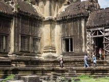 Κτήριο Wat Angkor, Καμπότζη Στοκ Εικόνες