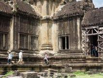 Κτήριο Wat Angkor, Καμπότζη Στοκ Φωτογραφία