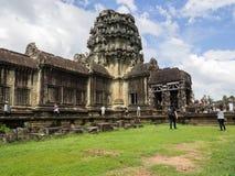 Κτήριο Wat Angkor, Καμπότζη Στοκ Εικόνα