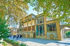 Κτήριο Windcatchers από τον κήπο Golestan, Τεχεράνη Στοκ φωτογραφίες με δικαίωμα ελεύθερης χρήσης