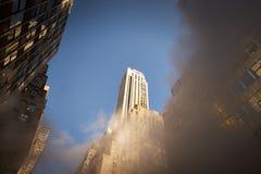 Κτίρια γραφείων πόλεων της Νέας Υόρκης Στοκ Εικόνες