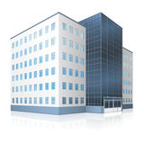 Κτίριο γραφείων με μια είσοδο και αντανάκλαση Στοκ φωτογραφία με δικαίωμα ελεύθερης χρήσης