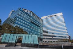 Κτίριο γραφείων στη Σεούλ στοκ εικόνες