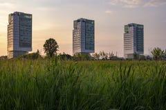 Κτίριο γραφείων στο Brescia στοκ εικόνες