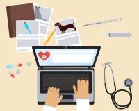 Κτηνίατρος εργασιακών χώρων διανυσματική απεικόνιση