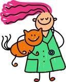 κτηνίατρος κατσικιών απεικόνιση αποθεμάτων