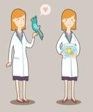 Κτηνίατρος κινούμενων σχεδίων Στοκ εικόνα με δικαίωμα ελεύθερης χρήσης