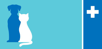 Κτηνιατρική επαγγελματική κάρτα προσοχής Στοκ φωτογραφίες με δικαίωμα ελεύθερης χρήσης