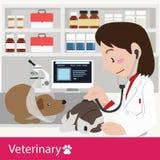 Κτηνιατρικό διάνυσμα υγειονομικής περίθαλψης Στοκ εικόνα με δικαίωμα ελεύθερης χρήσης
