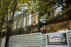 κτηρίου ξύλινο τοίχων επισκευής γραμμών καθαρό Στοκ φωτογραφία με δικαίωμα ελεύθερης χρήσης
