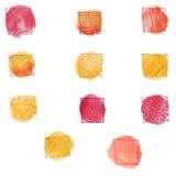 Κτυπά doodle το διανυσματικό σύνολο Στοκ Εικόνες