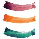 Κτυπήματα βουρτσών Watercolor Στοκ Φωτογραφίες