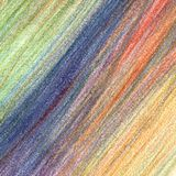 Κτυπήματα κραγιονιών μολυβιών χρώματος, συρμένο χέρι στοιχείο απεικόνιση αποθεμάτων