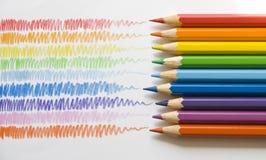 κτυπήματα μολυβιών στοκ εικόνες με δικαίωμα ελεύθερης χρήσης