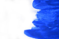 Κτυπήματα του μπλε χρώματος που γίνονται από ένα δάχτυλο Στοκ Φωτογραφία