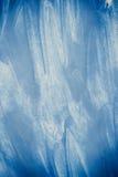 Κτυπήματα του μπλε χρώματος που γίνονται από ένα δάχτυλο Στοκ Εικόνες