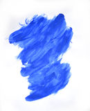 Κτυπήματα του μπλε χρώματος που γίνονται από ένα δάχτυλο Στοκ εικόνες με δικαίωμα ελεύθερης χρήσης