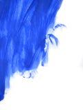 Κτυπήματα του μπλε χρώματος που γίνονται από ένα δάχτυλο Στοκ Εικόνα