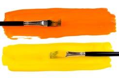 κτυπήματα χρωμάτων βουρτσ Στοκ Εικόνες