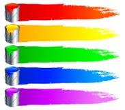 κτυπήματα χρωμάτων κάδων ελεύθερη απεικόνιση δικαιώματος