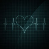 κτυπήστε το μηνύτορα καρδιών Στοκ Εικόνες