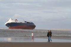 κτυπημένο σκάφος Στοκ εικόνες με δικαίωμα ελεύθερης χρήσης