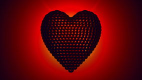 Κτυπώντας την περιστρεφόμενη καρδιά - 4K υπερβολικό HD διανυσματική απεικόνιση