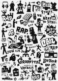 Κτύπημα γκράφιτι doodles Στοκ φωτογραφία με δικαίωμα ελεύθερης χρήσης