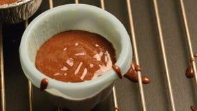 Κτύπημα σοκολάτας απόθεμα βίντεο