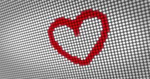 Κτύπημα της κόκκινης καρδιάς στην επίδειξη των μεγάλων οδηγήσεων ελεύθερη απεικόνιση δικαιώματος