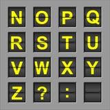 κτύπημα χαρτονιών αλφάβητο&up Στοκ εικόνα με δικαίωμα ελεύθερης χρήσης