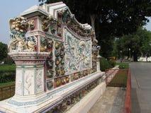 Κτύπημα-PA στον περίκομψο τοίχο της Royal Palace Ayutthaya Στοκ φωτογραφίες με δικαίωμα ελεύθερης χρήσης