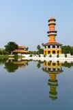 Κτύπημα PA στο αρχαίο παλάτι, Ayutthaya, Ταϊλάνδη Στοκ Φωτογραφίες