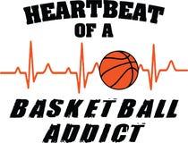 Κτύπος της καρδιάς ενός εξαρτημένου καλαθοσφαίρισης απεικόνιση αποθεμάτων