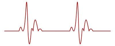 κτύπος της καρδιάς απεικόνιση αποθεμάτων