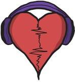 Κτύπος της καρδιάς μουσικής Στοκ Εικόνα