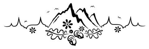 Κτύπος της καρδιάς, πεζοπορία, ορειβασία Στοκ εικόνα με δικαίωμα ελεύθερης χρήσης