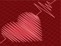 κτύπος της καρδιάς Στοκ Εικόνες