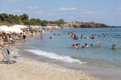 Κυανή ακτή σε Alexandroupoli - την Ελλάδα Στοκ φωτογραφία με δικαίωμα ελεύθερης χρήσης