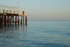 κυανή ακτή της Αμπχαζίας Στοκ Εικόνες