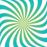 Κυανό και πράσινο στροβιλιμένος υπόβαθρο δίνης ακτίνων Στοκ φωτογραφία με δικαίωμα ελεύθερης χρήσης