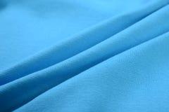 Κυανό μπλε ύφασμα βαμβακιού Στοκ Εικόνα