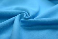 Κυανό μπλε ύφασμα βαμβακιού Στοκ εικόνες με δικαίωμα ελεύθερης χρήσης
